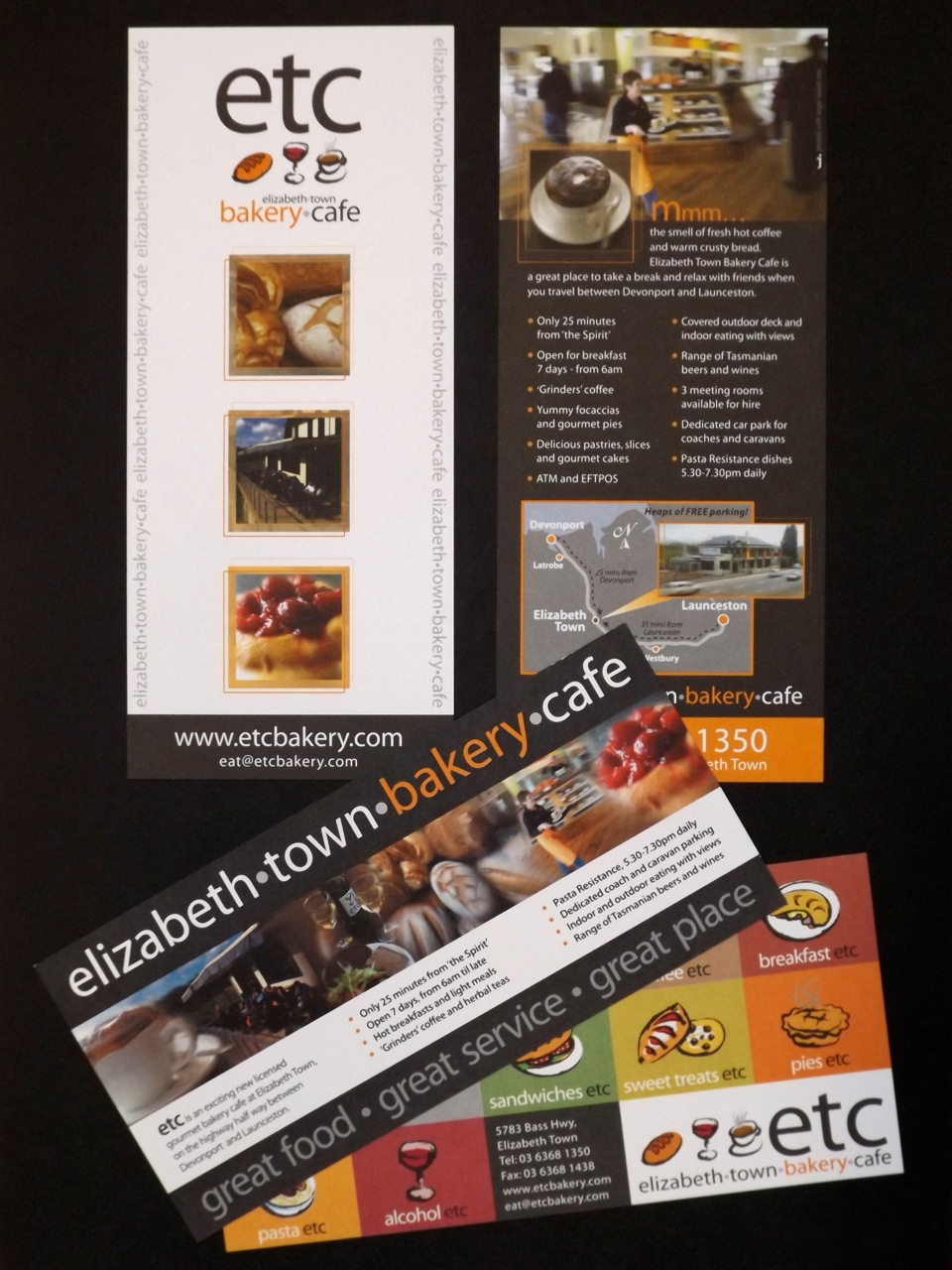 ETC - Flyers, signage, banners, loyalty cards, website and photoshopping.