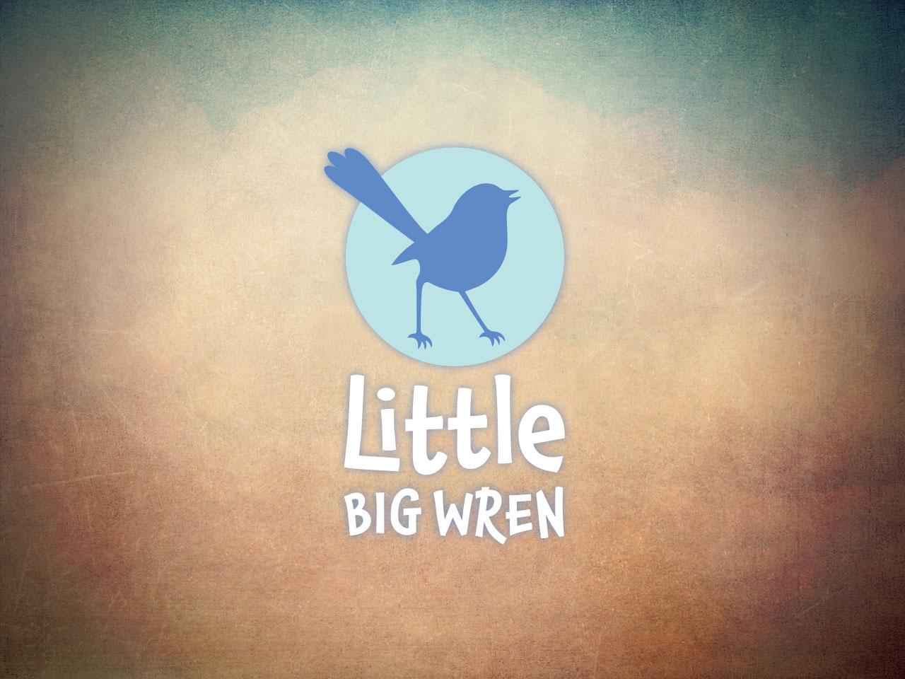 LITTLE BIG WREN - Children's Book Publisher Logo design