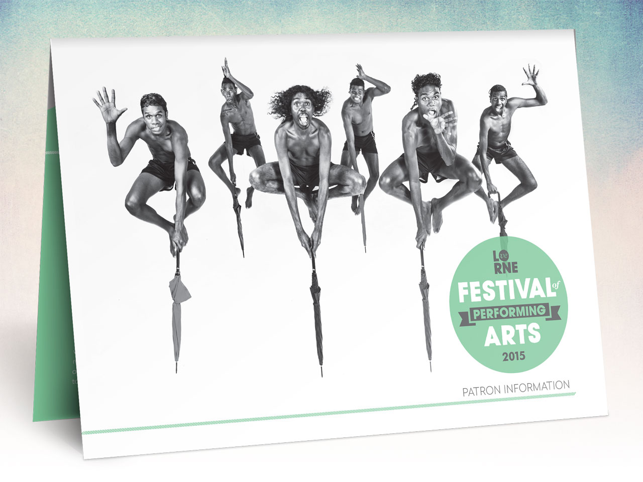 LOVE LORNE - Festival of Performing Arts Patron Information. MORRISON DESIGN Branding & Graphic Design Geelong.