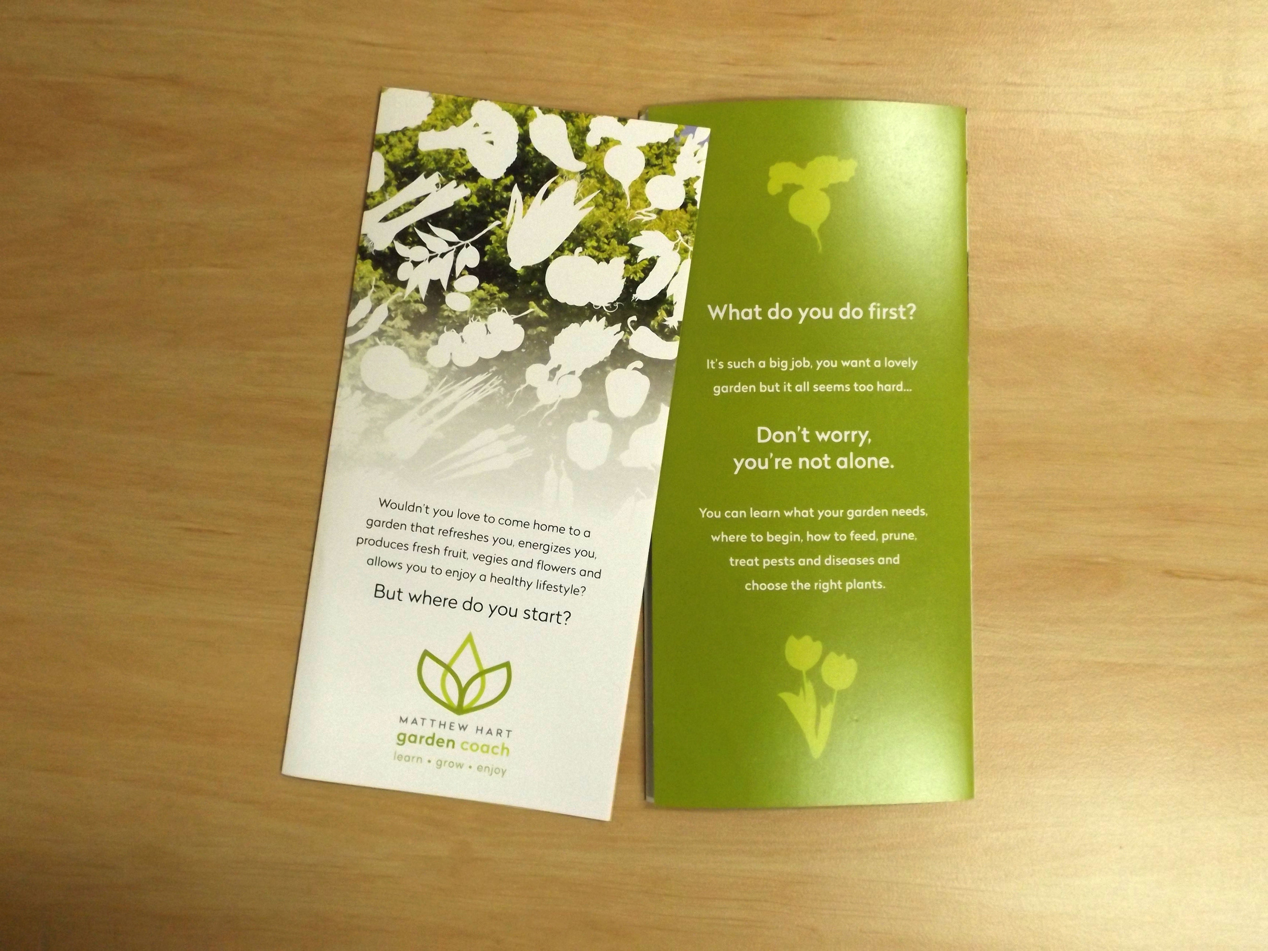 MATTHEW HART GARDEN COACH - Eco Brochure Design and Printing Geelong