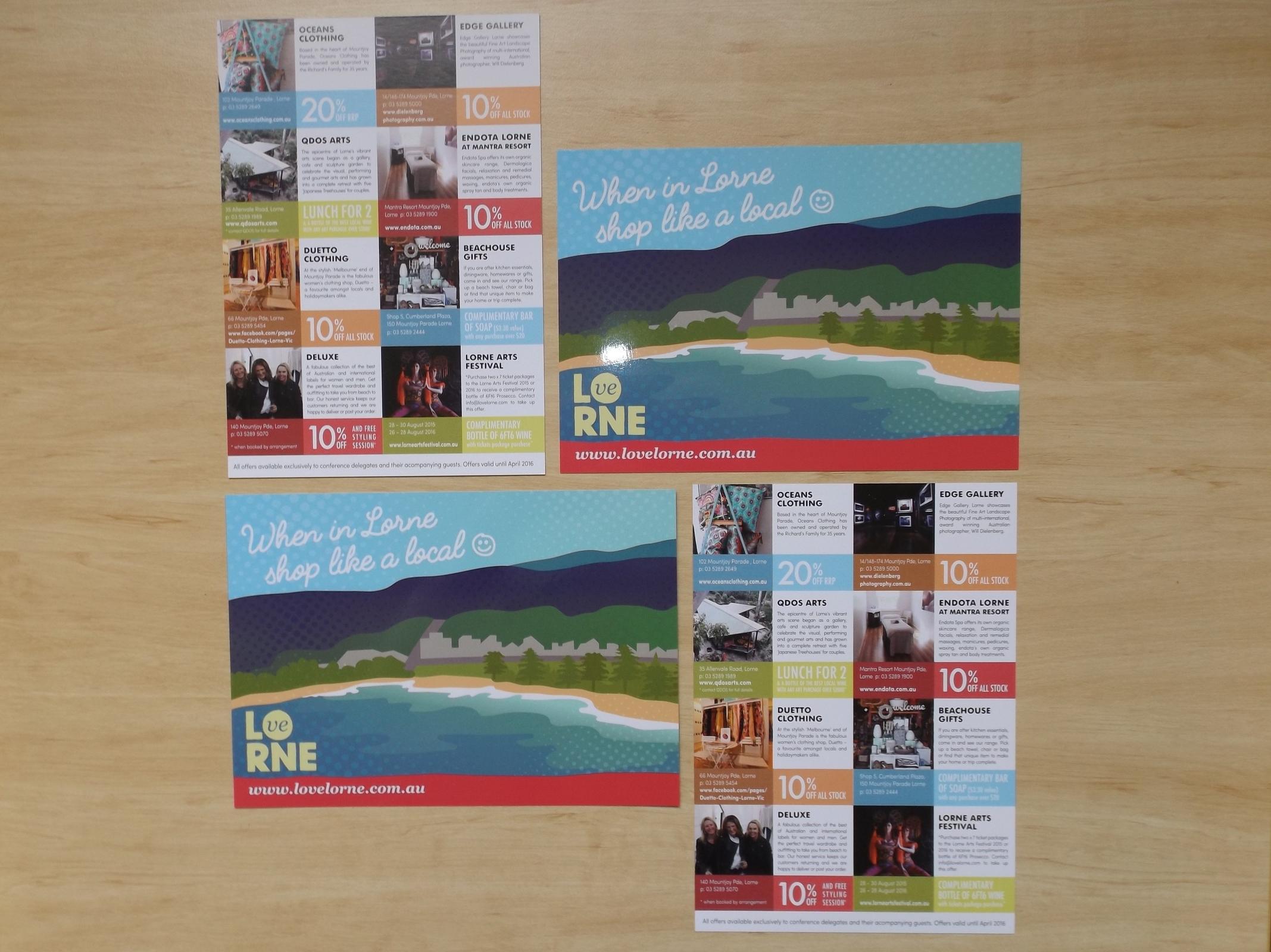 LOVE LORNE: Retail Vouchers Promo Cards