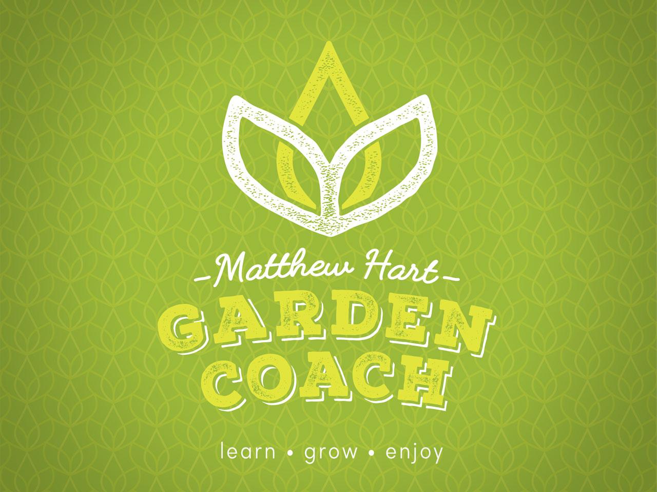 MATTHEW HART GARDEN COACH - Brand Identity Design. Geelong, Surf Coast, Melbourne, Vic, Graphic Design