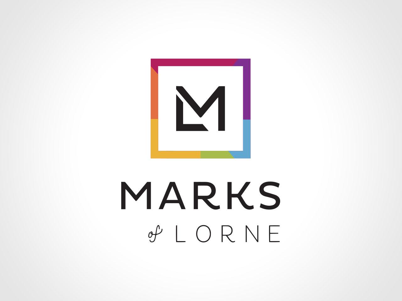 MARKS OF LORNE - Restaurant Concept (not final design). Rebrand. Logo Design, Signage and Menu Design. Morrison Design Geelong.