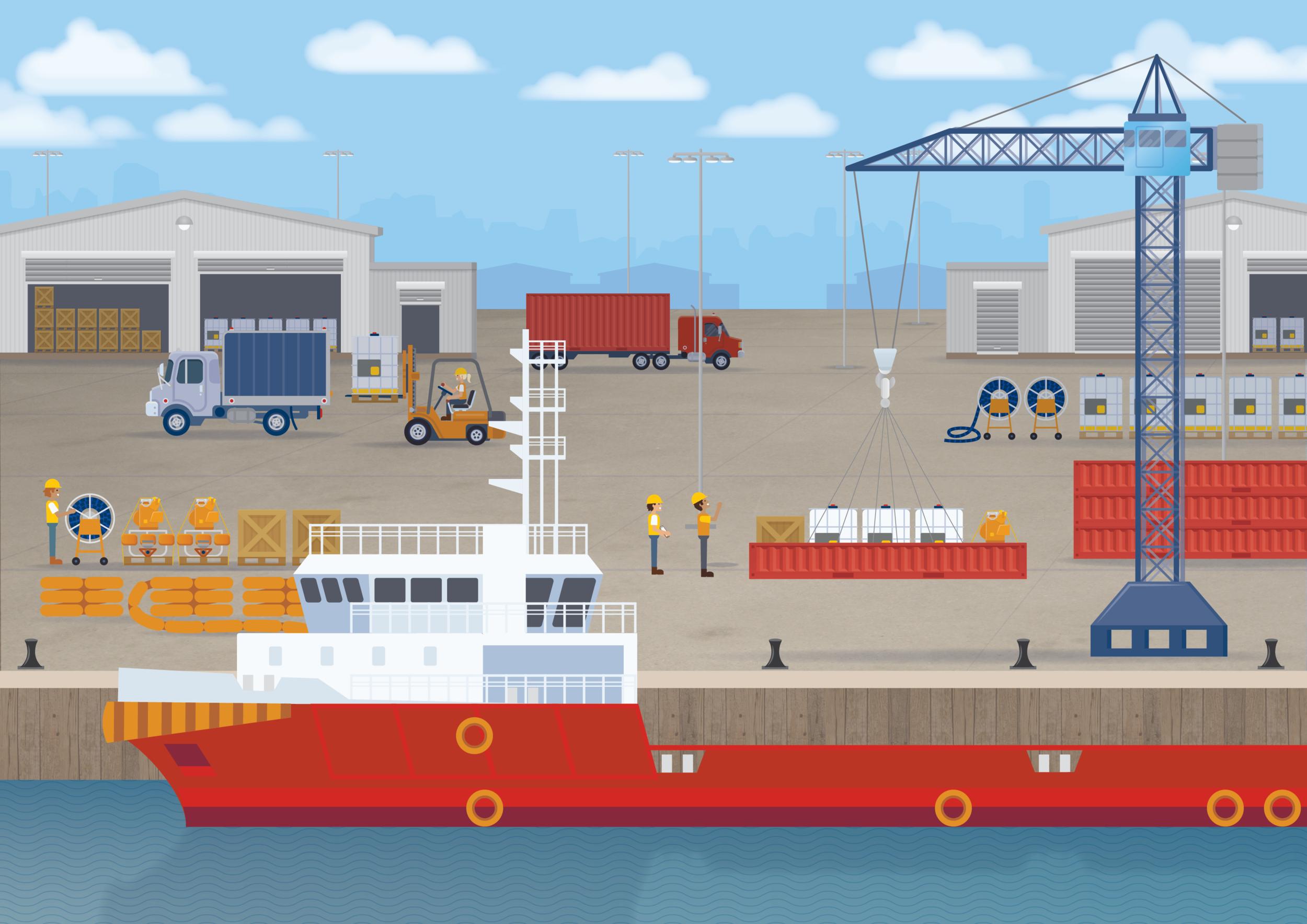 AMSC - Wharf Illustration