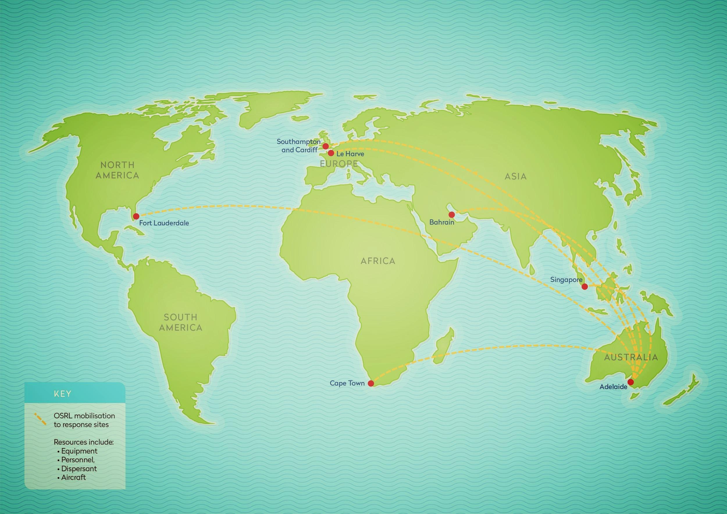 AMSC - World Map Illustration Infographic