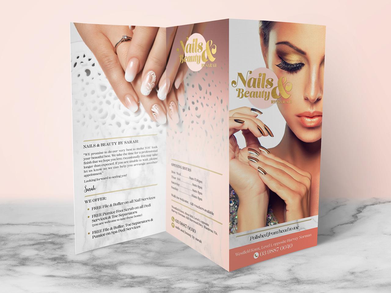 NAILS & BEAUTY - Salon Brochure