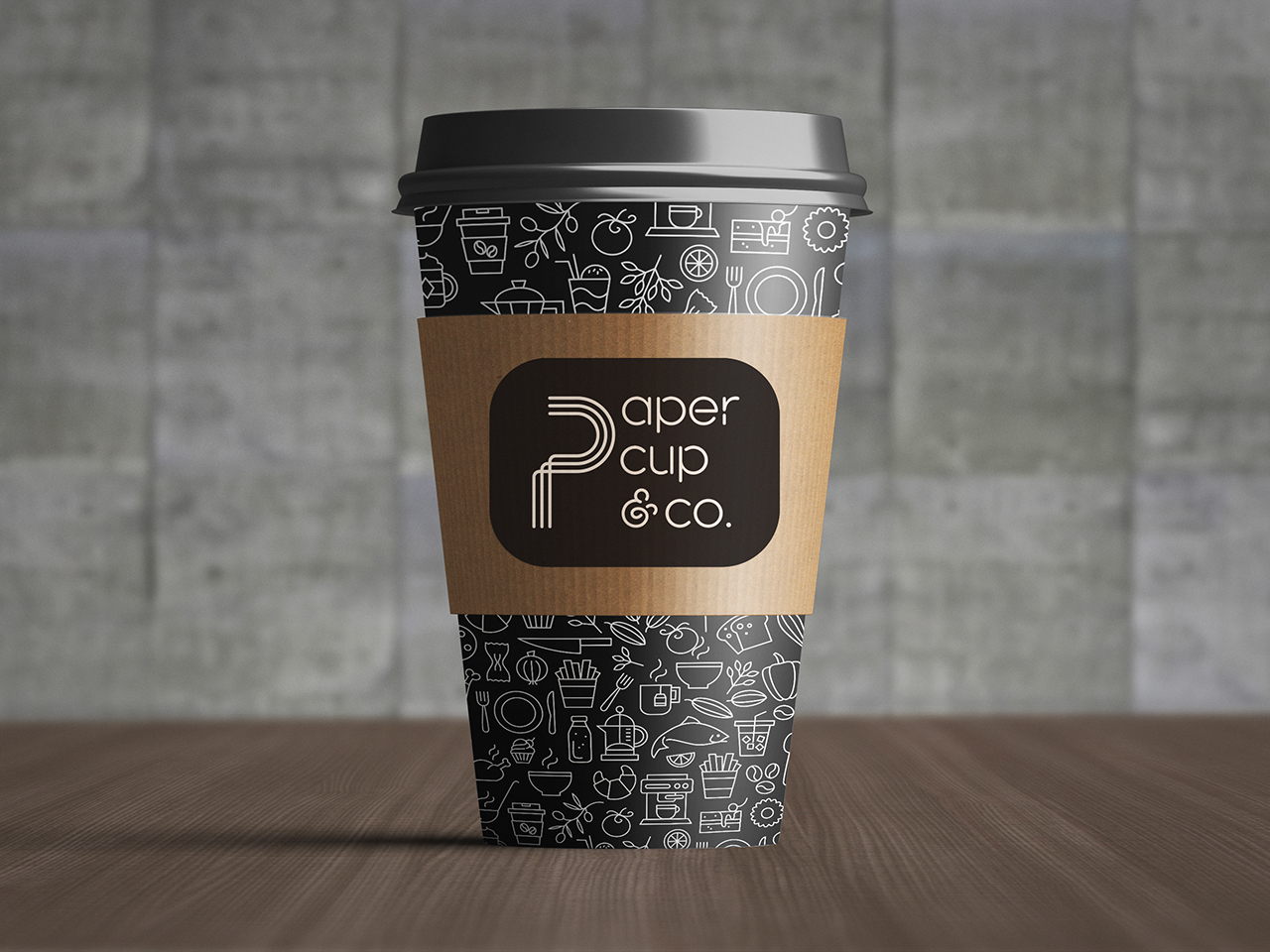 PAPER CUP & CO. - Identity creation, brand development, logo design, menu, packaging and signage design