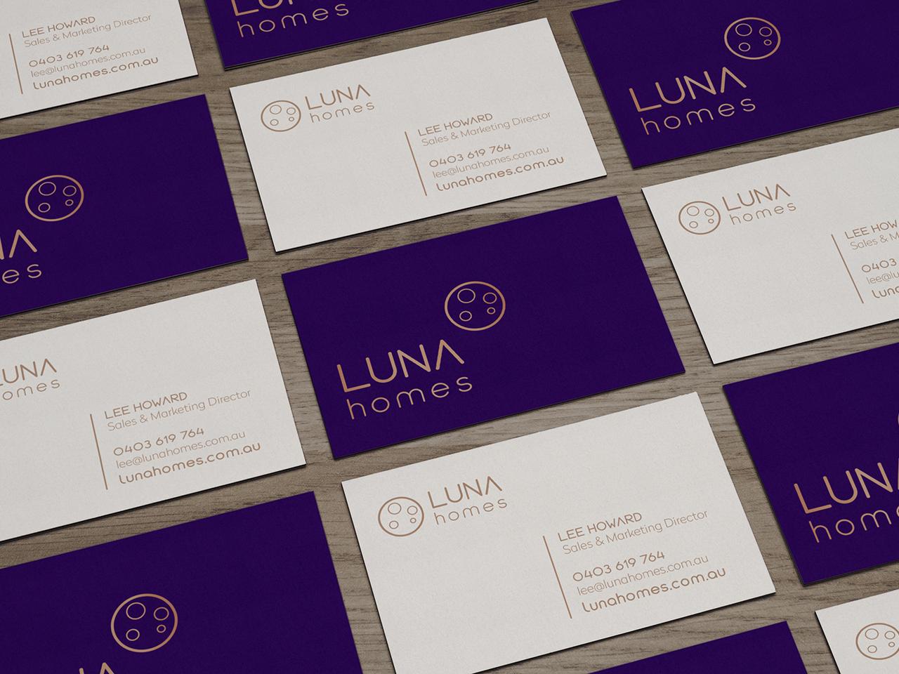 LUNA HOMES - Business Card