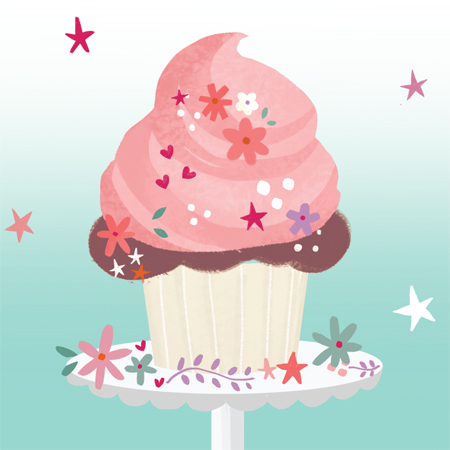 Cupcake Everyday Card 2014 © Up with paper
