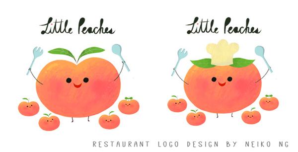Logo Design for a restaurant called Little Peaches.