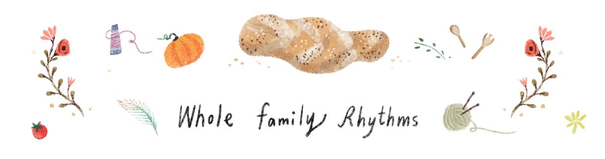 Blog Header design for Whole Family Rhythms