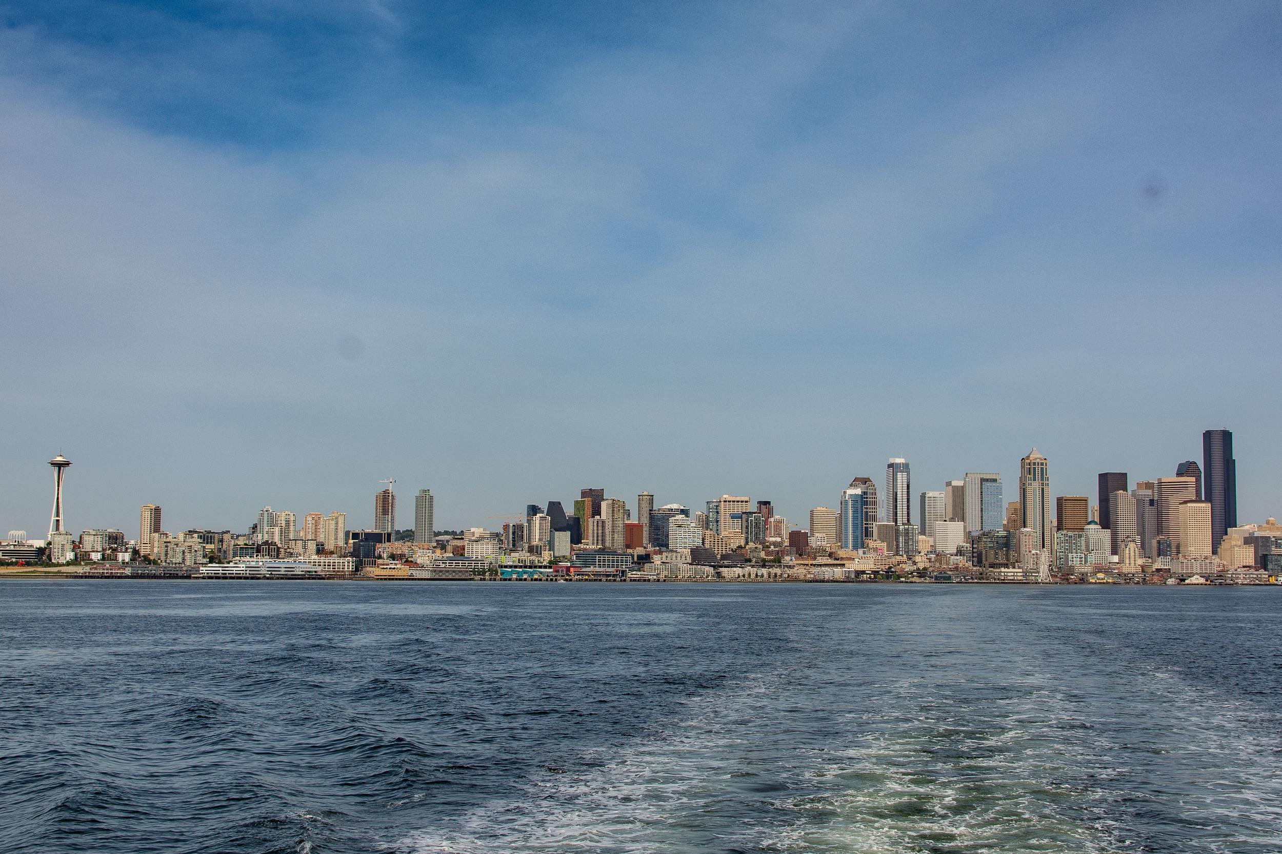 Seattle skyline from Puget Sound.
