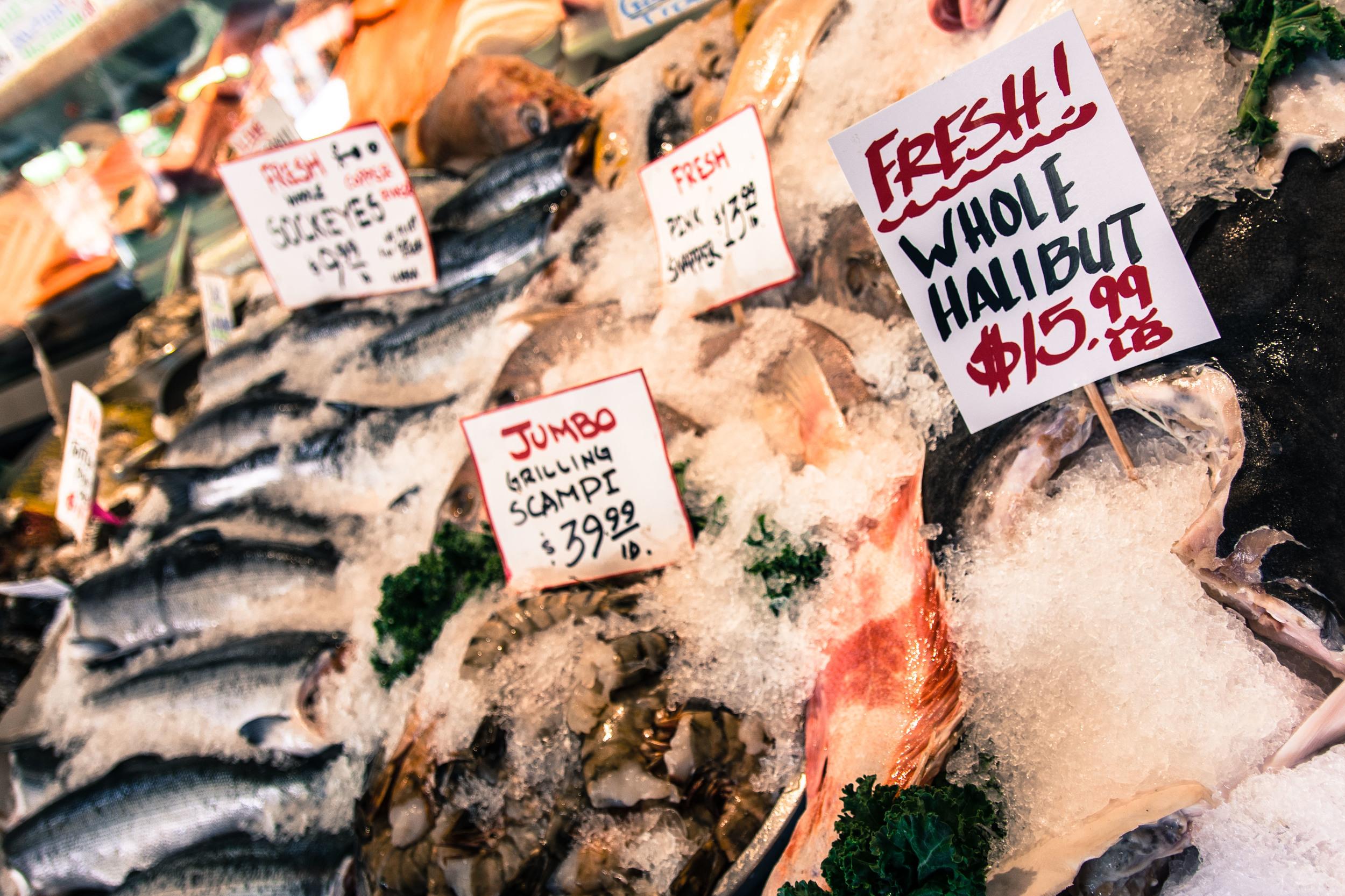 Classic market - Pike's Place Market, Seattle, WA.