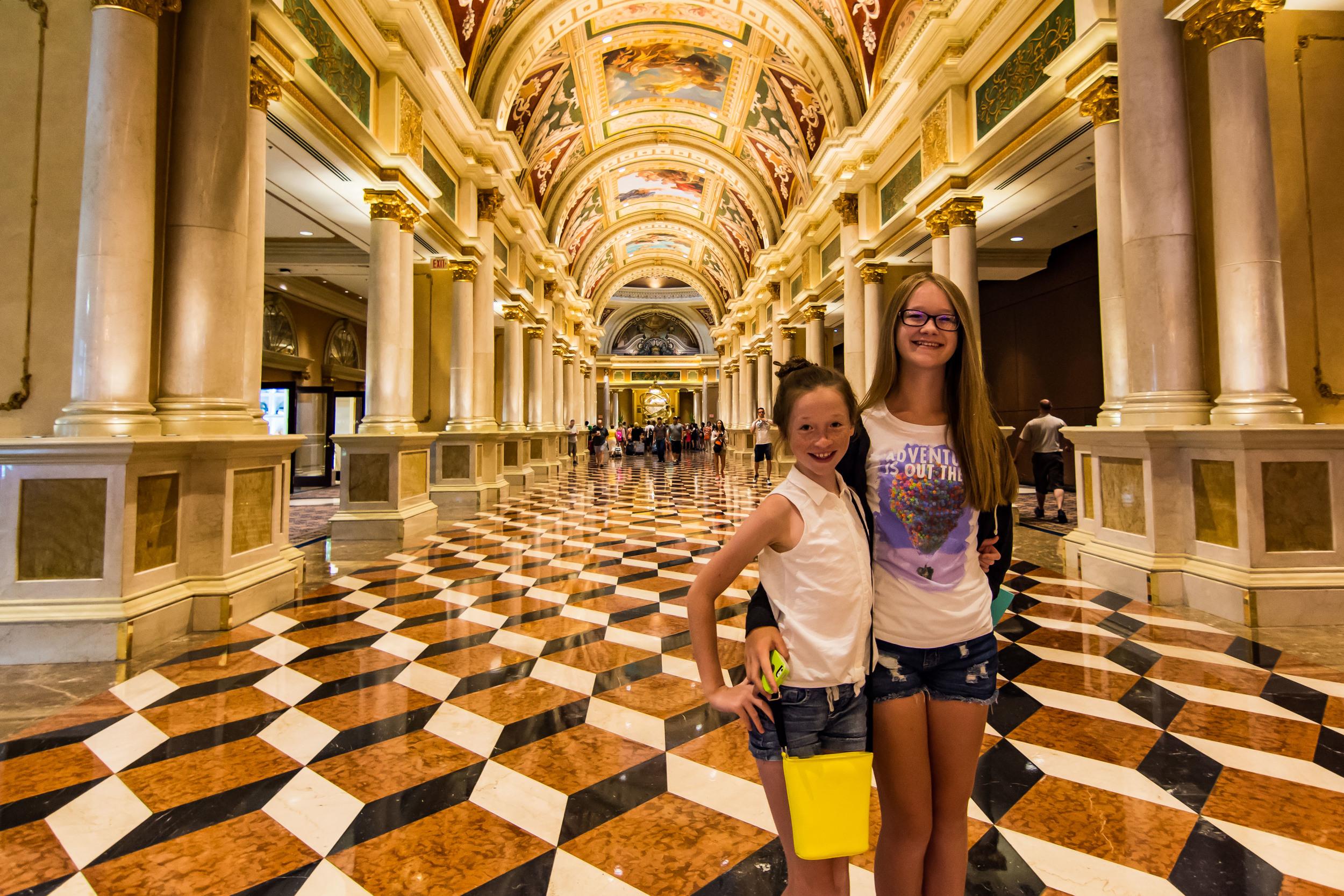 The lobby at The Venetian. Swanky.