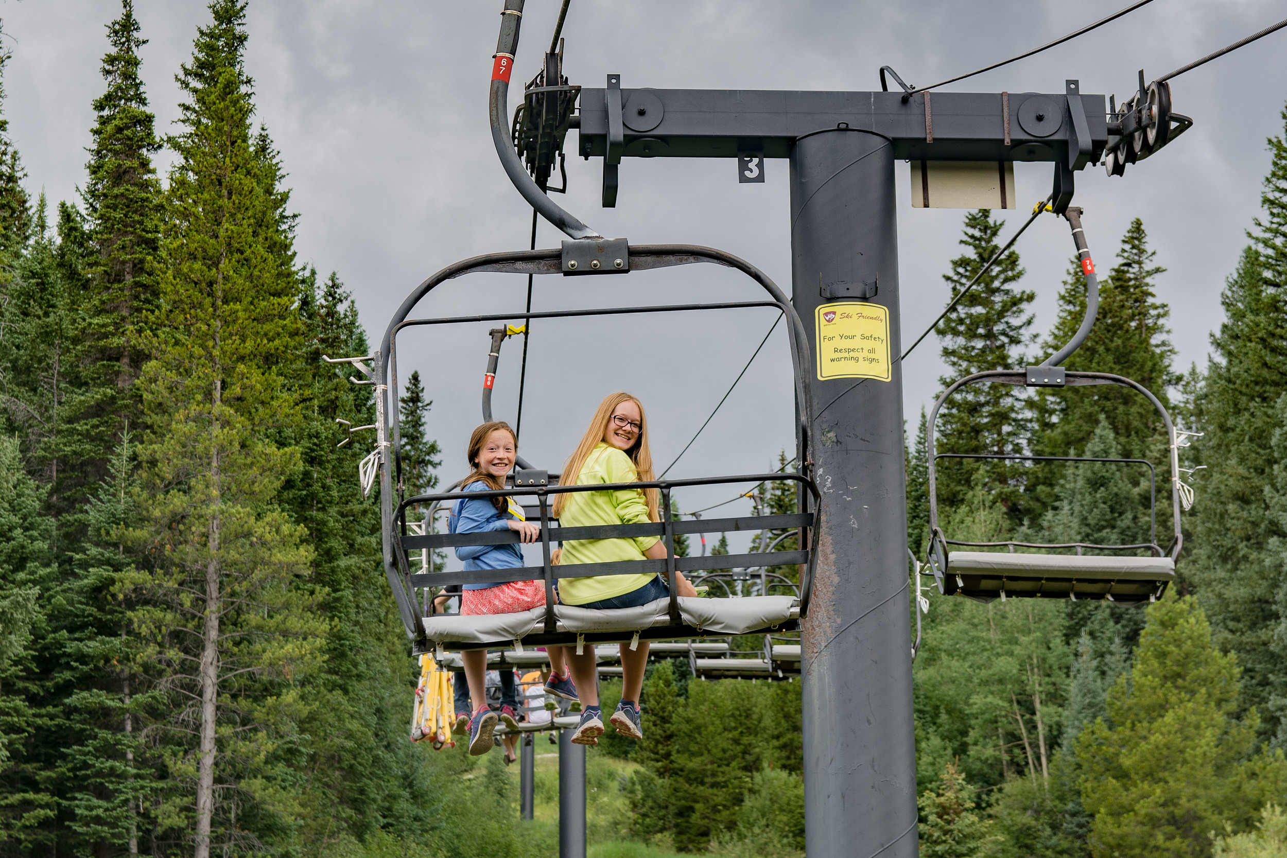 Lift to the top for the Alpine Slide, Winter Park, CO.