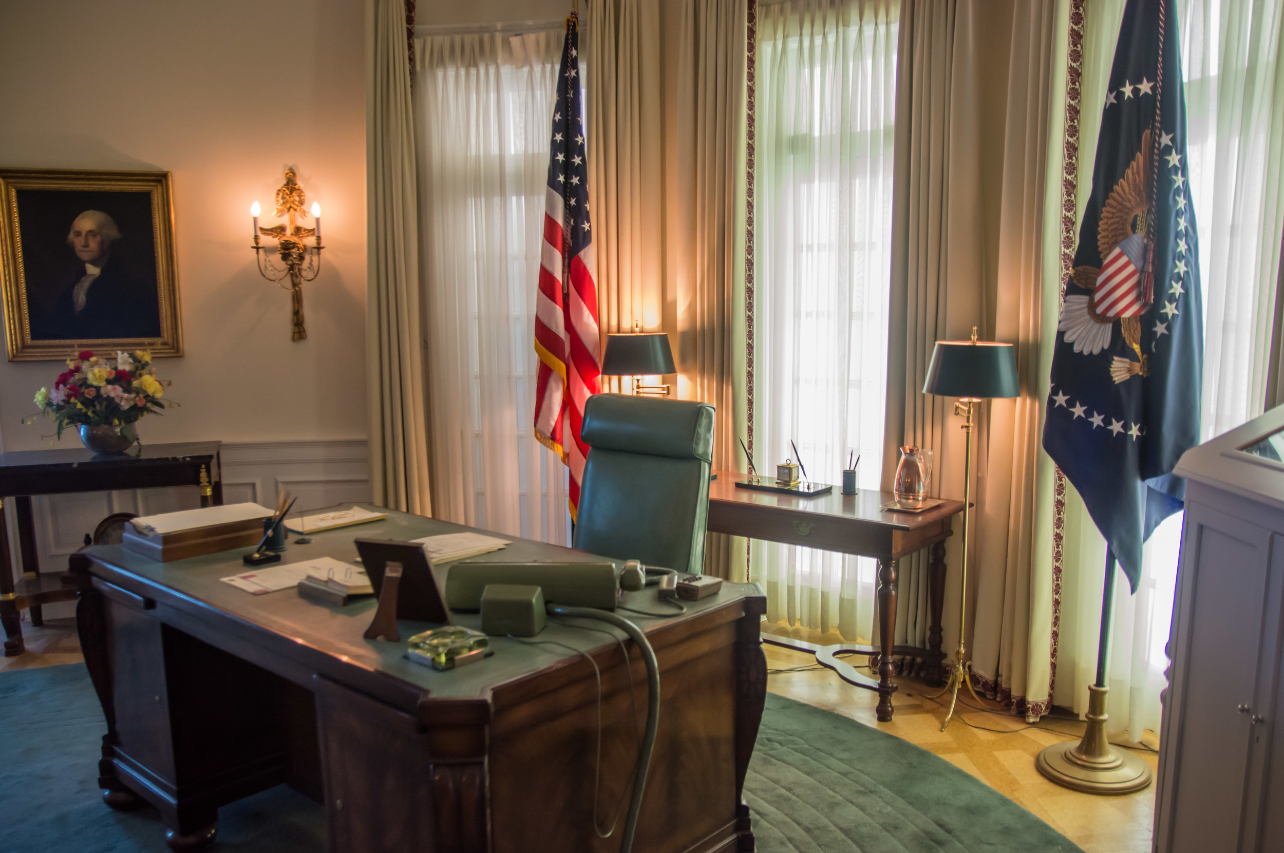 LBJ's Oval Office recreated in the Library. Very detail oriented, very cool.