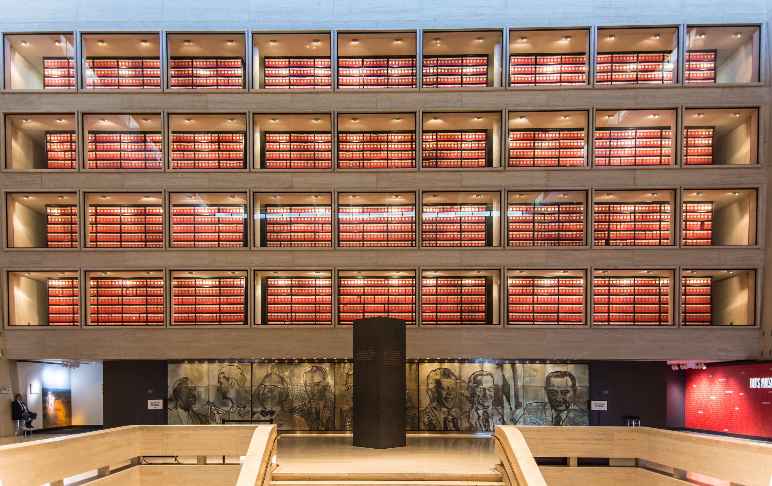 The 'Library' part of the LBJ Library. Tens of thousands of documents, pictures, notes and files, all open to the public. Because it's ours. Just like the National Parks.