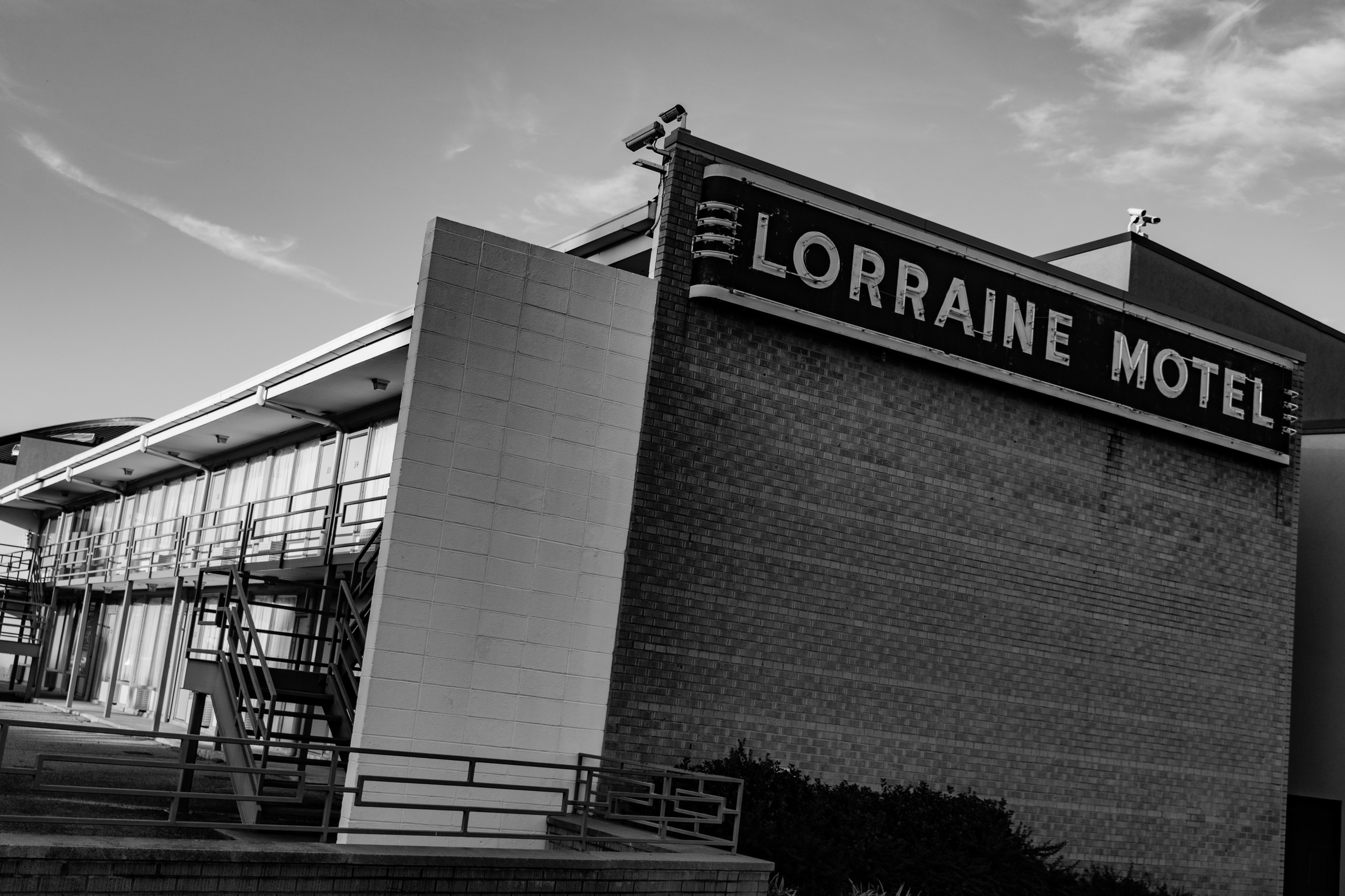 The Lorraine Motel, home of the National Civil Rights Museum.