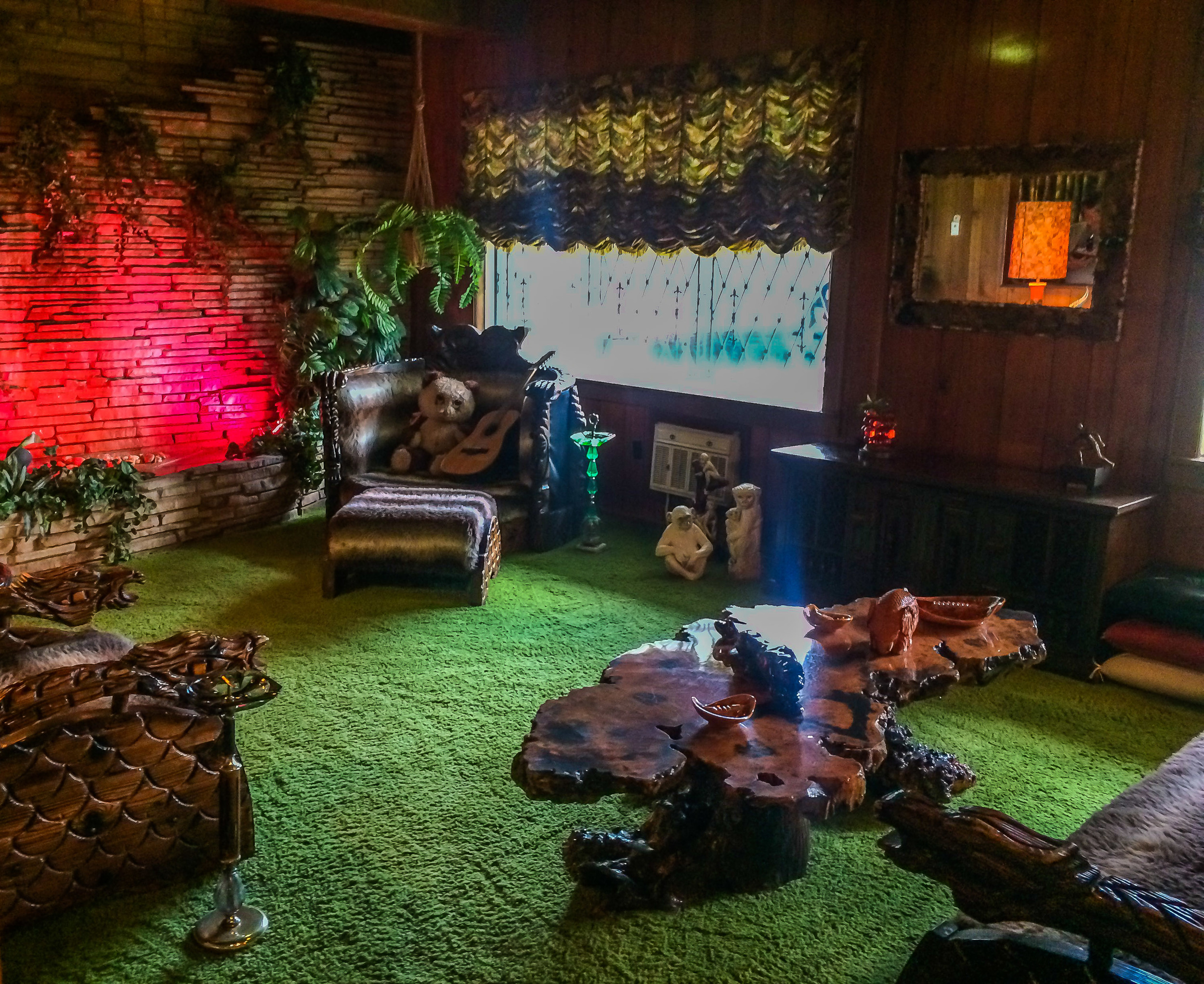 The Jungle Room. Crappy iPhone picture...grrr - always carry a backup memory card :-(