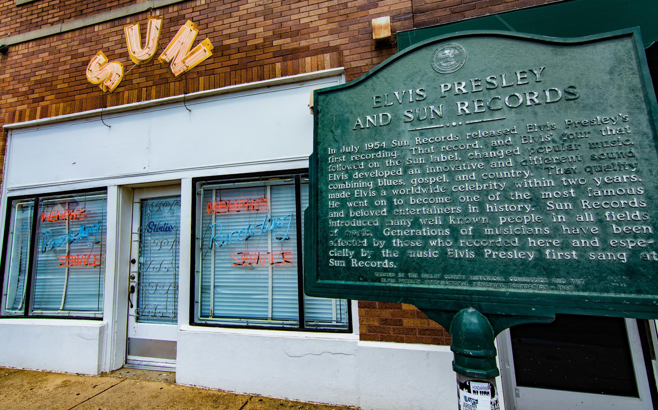 The legendary Sun Studio. Great tour!