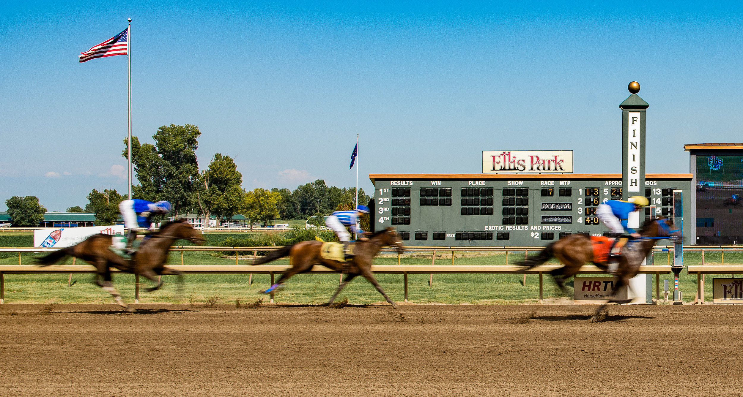 Fast horses. I dig photographic motion blur.