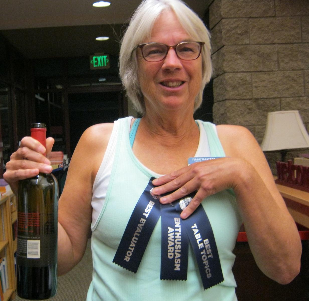 Triple Ribbon Winner Mary Jo Preti