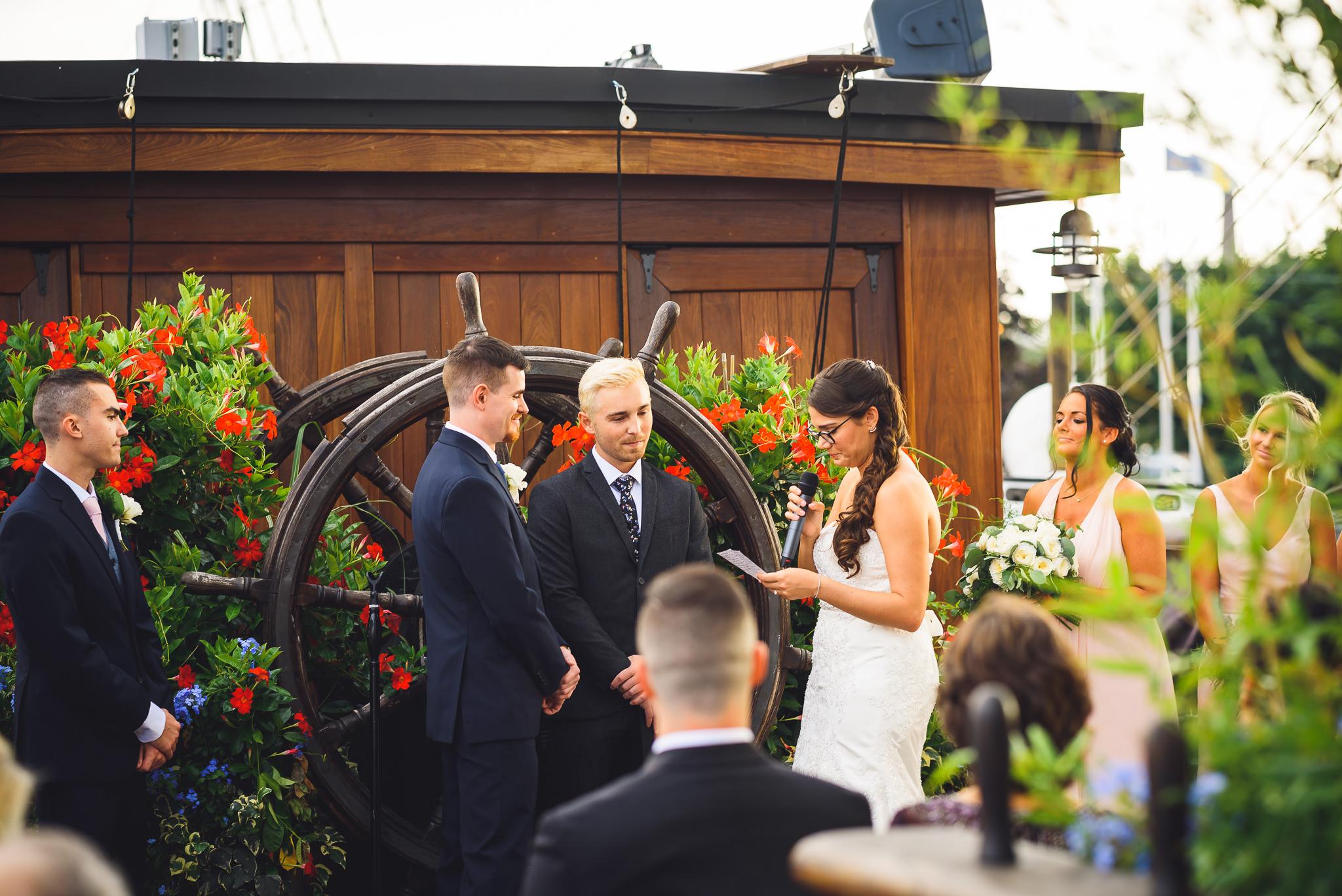 Wedding at the Moshulu