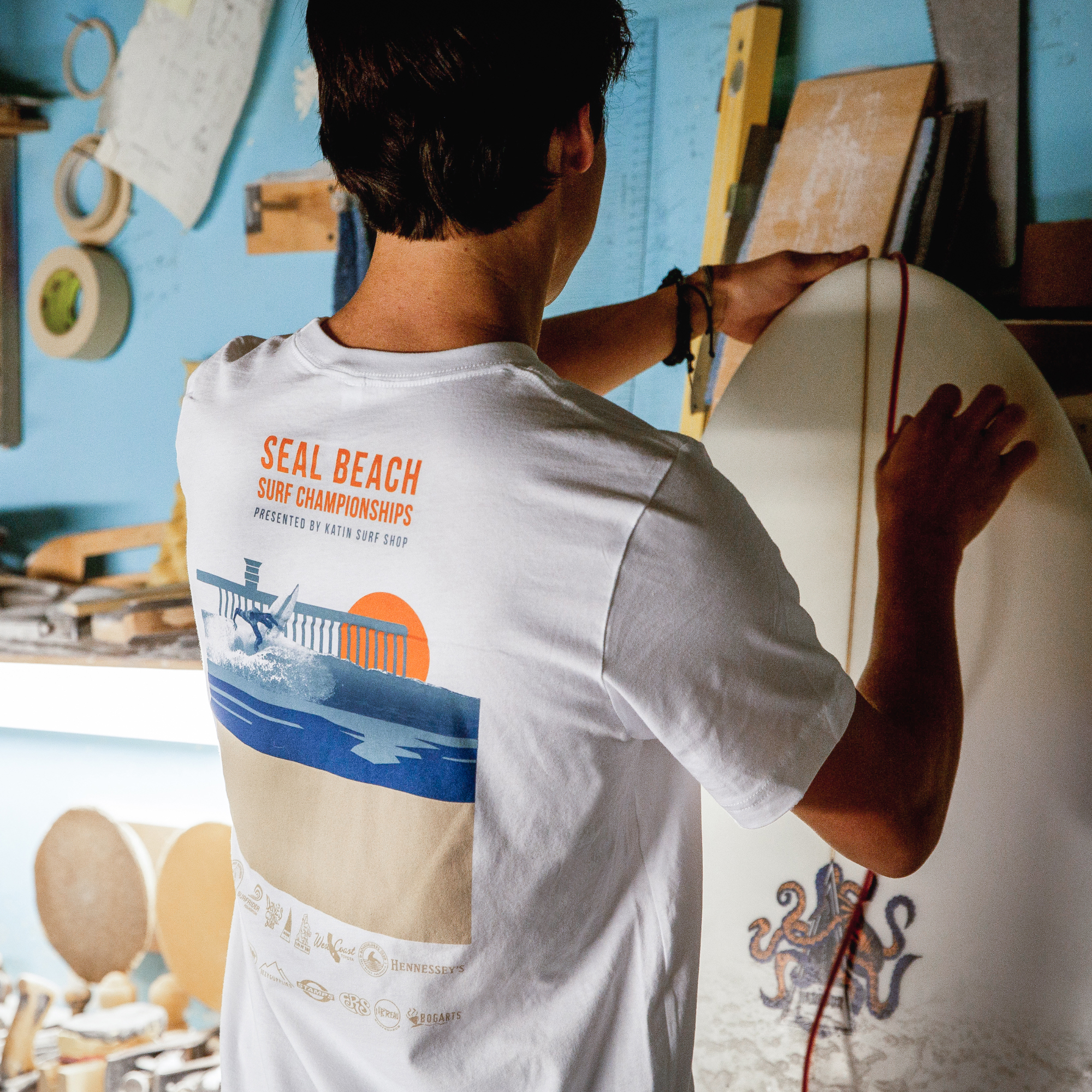 - Proceeds from every purchase of this collection will go towards funding the 2020 Seal Beach Surfing Championships.