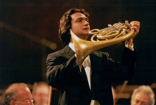 Alessio Allegrini has performed as solo or principal horn with virtually all of the world's leading conductors, including Claudio Abbado, Simon Rattle, Mariss Jansons, Riccardo Muti, Myung-Whun Chung, Bernard Haitink, and Daniel Barenboim. Winner of prizes in both the Prague Spring International Competition and the Munich International Competition, Mr. Allegrini held first chair in the Orchestra of La Scala for eight years, and subsequently served as guest principal horn of the Berlin Philharmonic for an entire season, including their residency at the Salzburg Festival, numerous recordings and DVDs. Since 2004, he has been the principal horn soloist with the Orchestra of the Academy of Santa Cecilia in Rome.    At the invitation of Claudio Abbado, Mr. Allegrini has served as principal horn of the Mozart Orchestra and he is the solo first horn of the Lucerne Festival Orchestra. Highlights of past seasons include a European tour as solo horn in Mahler's Fifth Symphony with the Bavarian Radio Symphony Orchestra under Mariss Jansons; Strauss Horn Concerto No. 2 with La Scala under Riccardo Muti; and Mozart concertos under Claudio Abbado.    In 2012 Deutsche Grammophon released the four Mozart horn concertos recorded live with Mr. Allegrini as soloist with Mr. Abbado. Mr. Allegrini is an International Visiting Professor at the Royal Academy in London and holds master classes in Europe, South America and Japan.    As conductor of the Human Rights Orchestra, Mr. Allegrini has collaborated with pianists Maria João Pires and Hélène Grimaud, violinist Isabelle Faust, and mezzo-soprano Laurie Rubin. He has led the orchestra in works of Mozart, Beethoven, Rossini, Mendelssohn, Brahms, Dvorak, Grieg, Respighi, Ravel, Kodaly, Stravinsky, Piazzolla, Ligeti, Adolphe, Marzocchi, and Panfili.