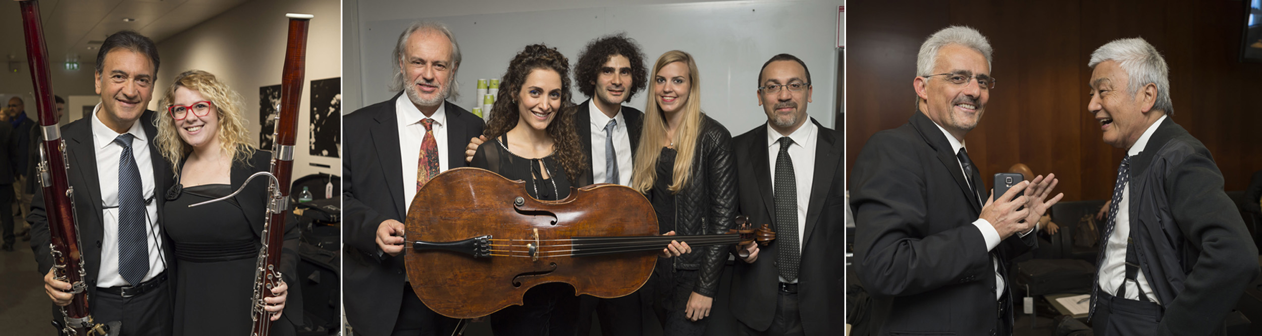Bassoonists, five cellists, and two violists who performed in the Lucerne concert of 2017