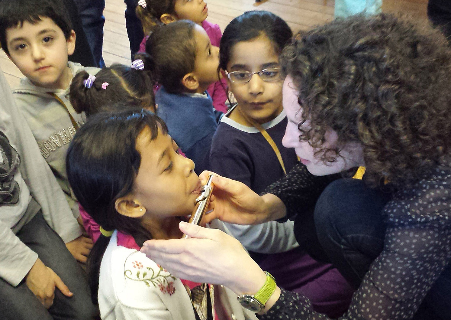 2014 Lucerne: asylum-seeking children enjoying music-making