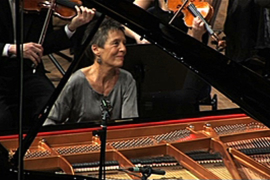 2010 KKL Lucerne: Maria João Pires performing Mozart Piano Concerto in A major, KV 488, with the Human Rights Orchestra