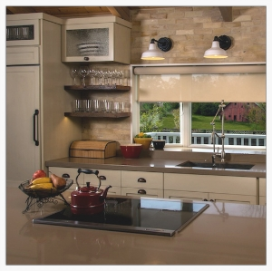 Farmhouse kitchen remodeled down to the wall studs, opening the once U-shaped space. Induction range, LED lighting, built-in appliances, and reclaimed materials re-make an outdated 1980's kitchen.