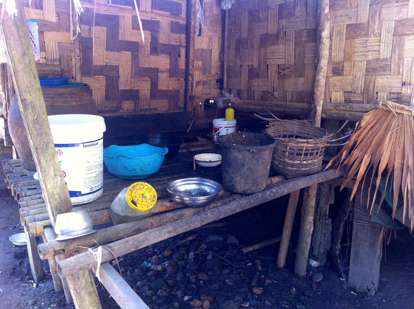 A washing and water section of a local house (Mong Sa Tur community)