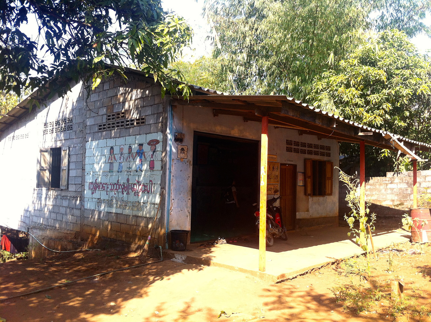 """Pattanarak's """"Health House"""" that serves as a center for the work related to day-laborers from Myanmar (Three Pagoda Pass border-crossing point)"""