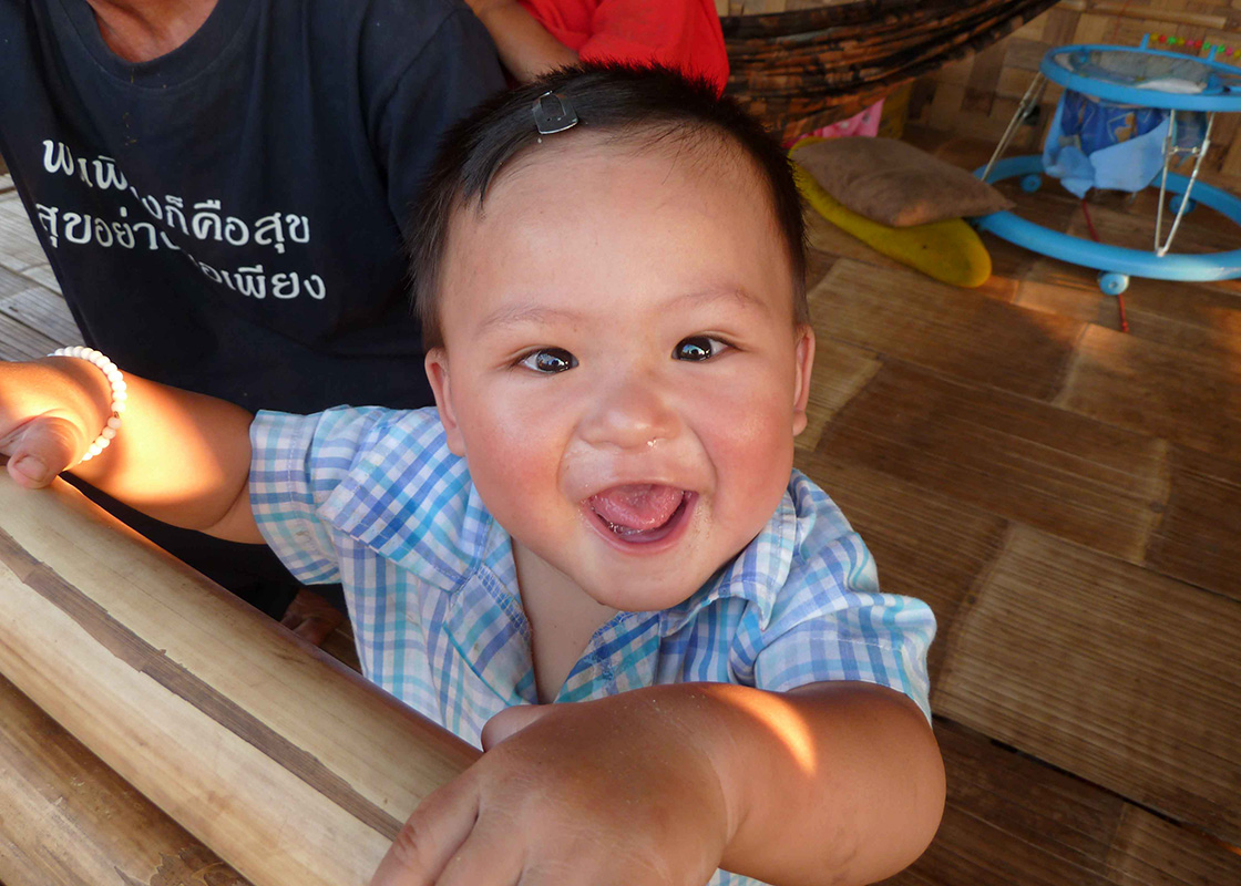 A boy being cared for in Fung Na