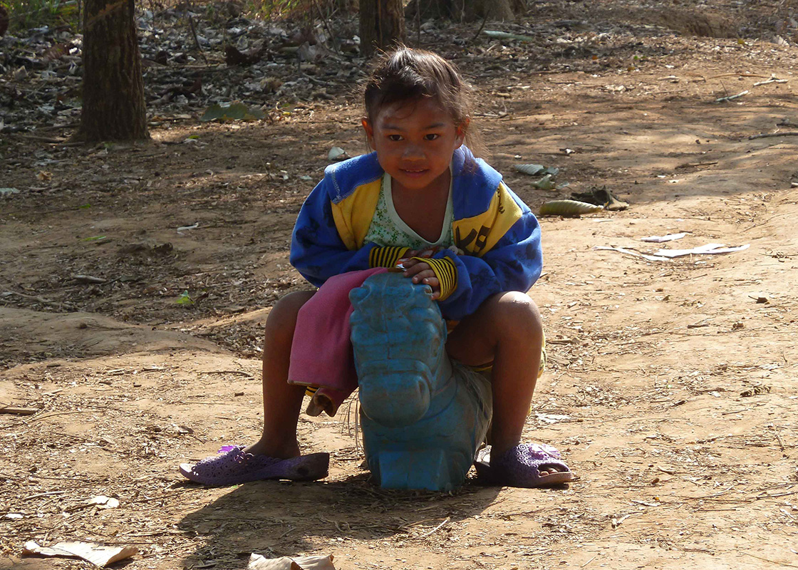 A girl playing
