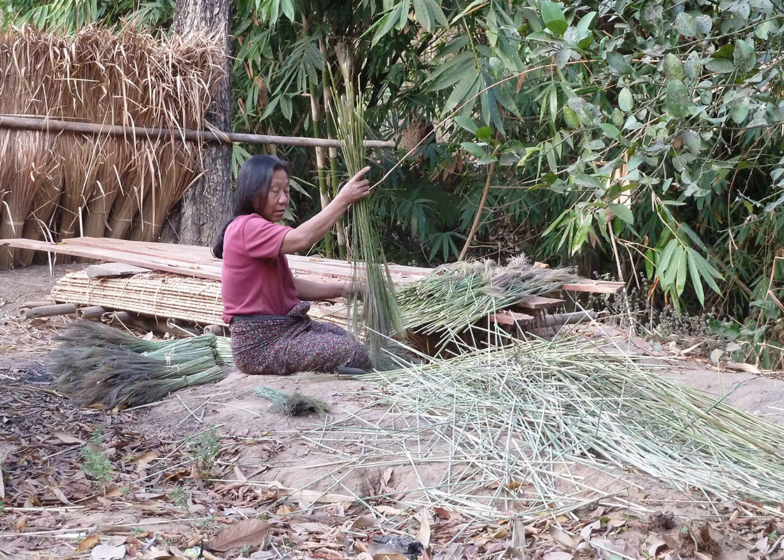 A local making broom brushes
