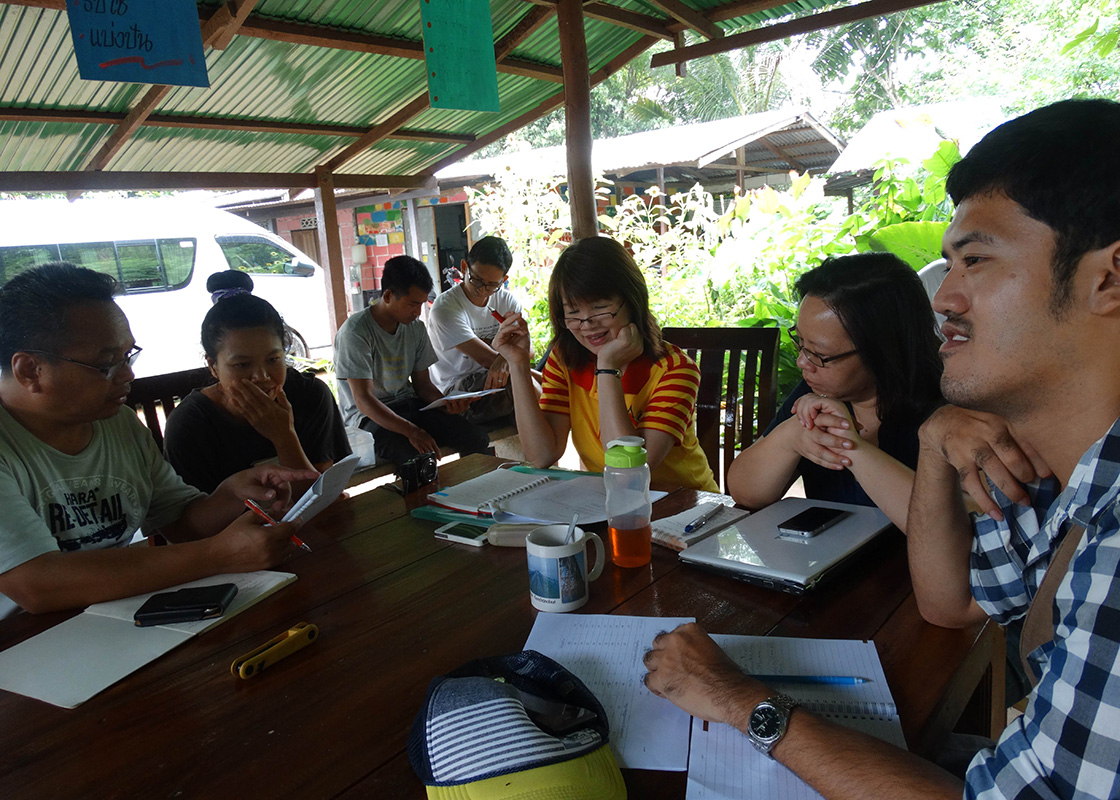 Team meeting to review the questionnaires
