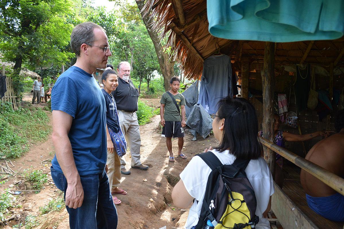 Visiting Ban Mai.