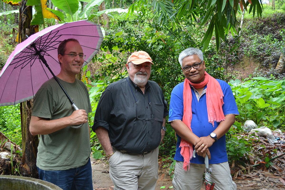 Matthias, Bill, and Seri enjoying the visit.