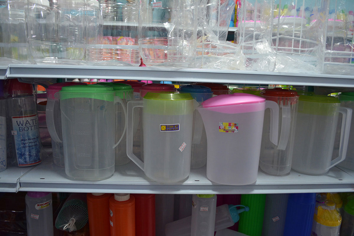 Drinking water containers that we found in downtown Sangkhlaburi that could possibly work with our SODIS bags.