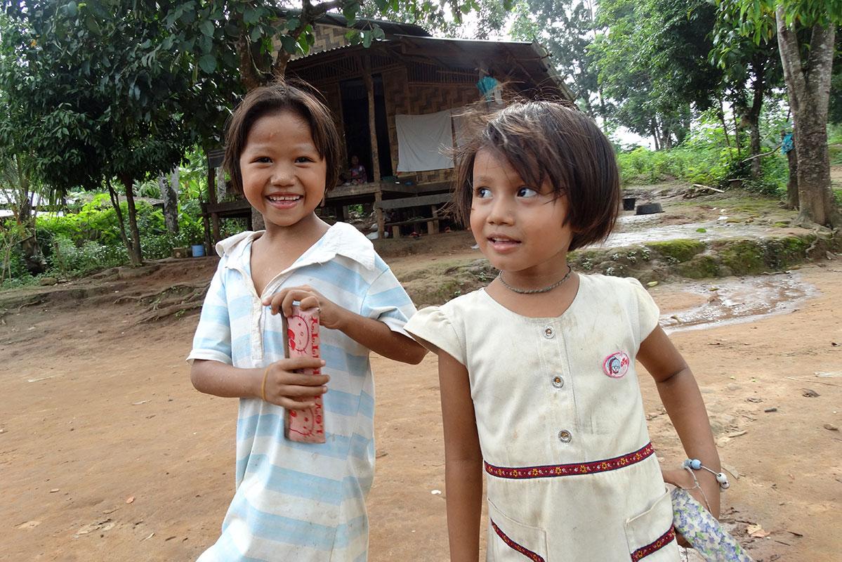 Children in Ban Mai.
