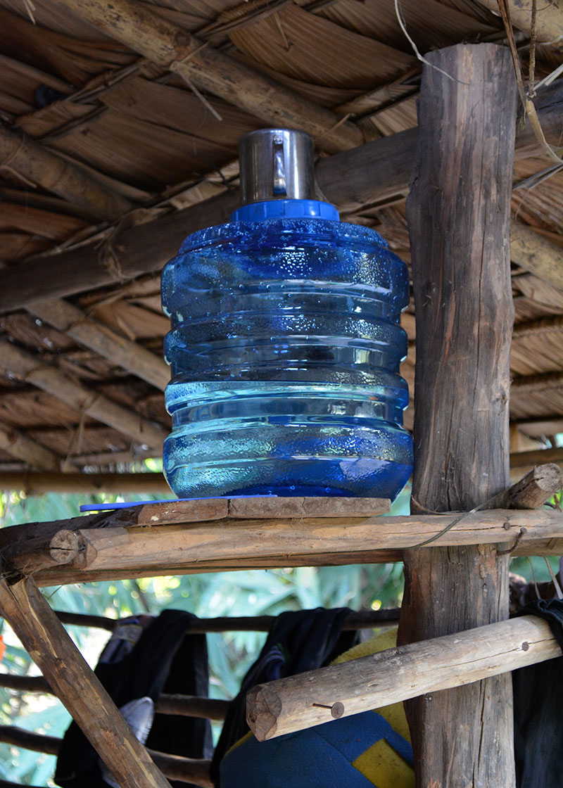 The containers we provided had spouts at the bottom, making it easy for the users to get the water without having to insert their hands inside the containers and contaminate the water.