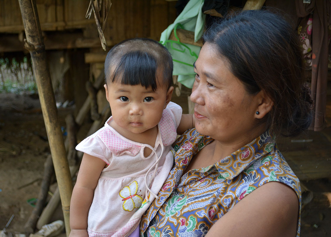 A woman, who had earlier joined our 2-day community health training, and her daughter, who famously sat through the whole training without crying once.