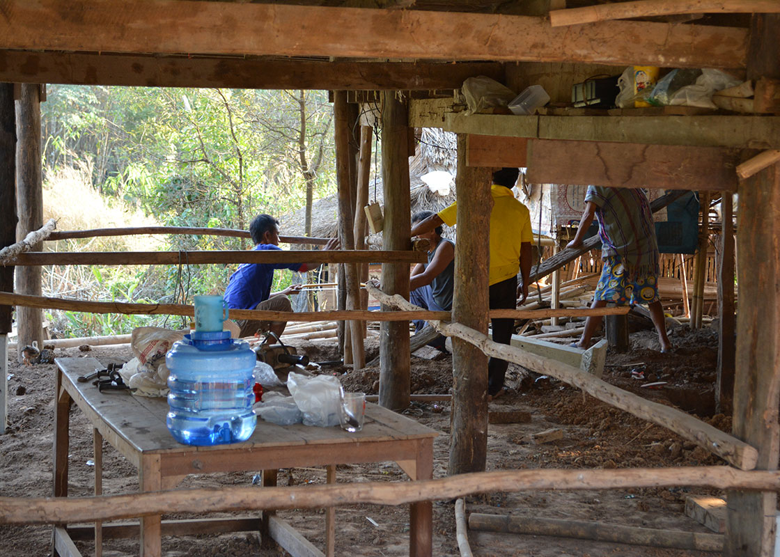 At the renovation of another house, the clean drinking water helped keep the workers hydrated.