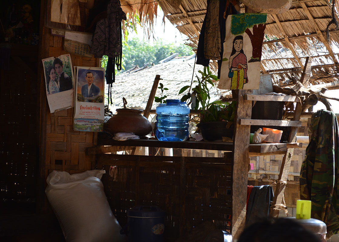 This household also sells ready-made food to the other people in the community, and they serve the drinking water that they made with SODIS X to their customers.