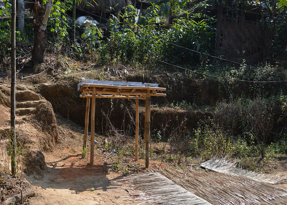 A platform for SODIS X at a house in Mong Sa Tur.