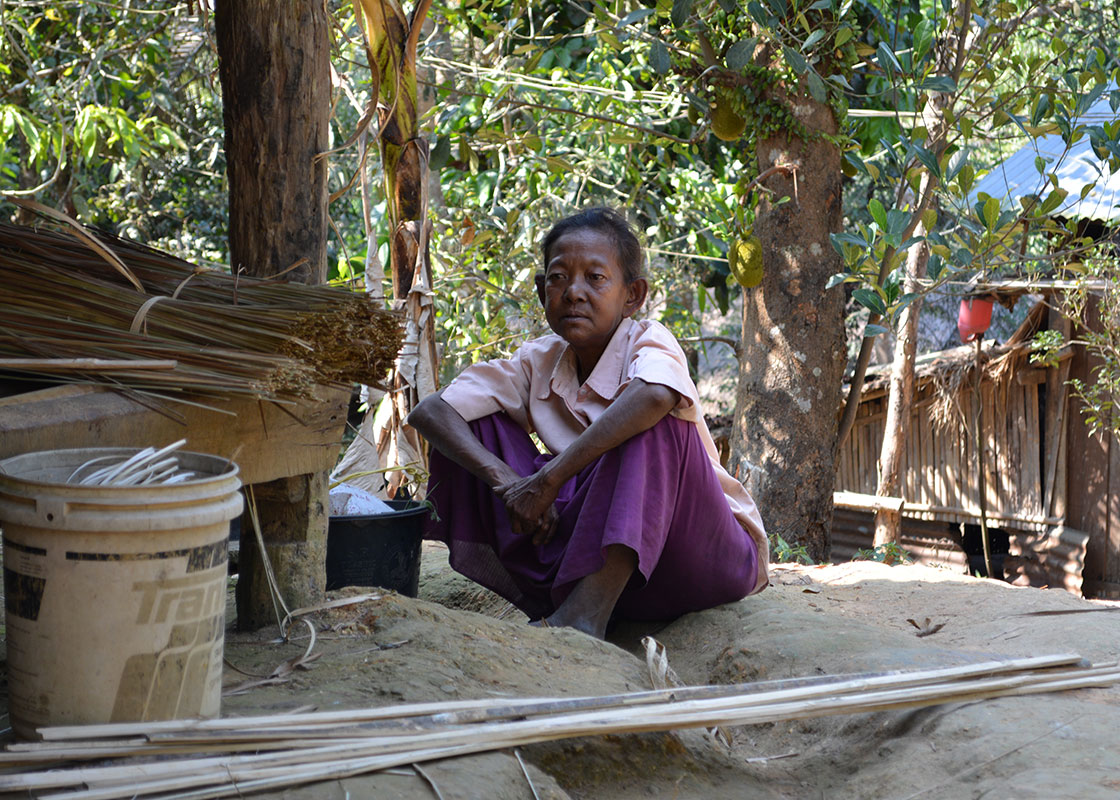 This woman in Mong Sa Tur said she used to often have upset stomach and had felt better since she started drinking cleaner water.