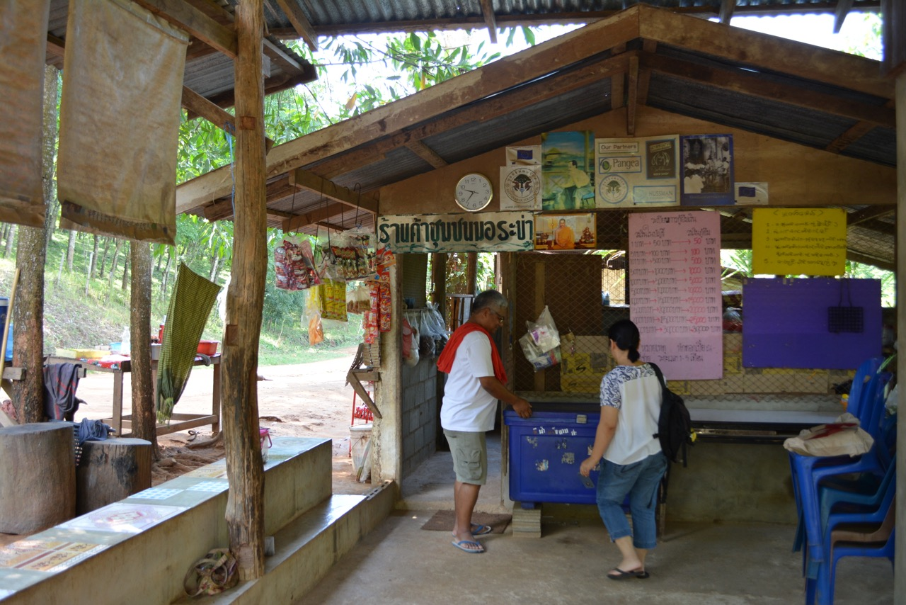 His family also rented a shop space from his community's saving group to sell grocery and ready-made food.